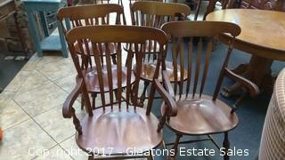 SIX SOLID CHERRY CHAIRS