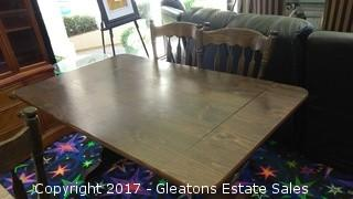 BAY PINE WOOD DINING TABLE WITH TWO LEAF