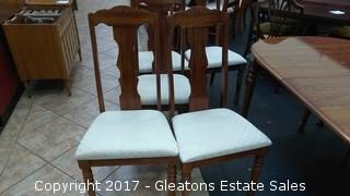 SIX SINGER FURNITURE CHAIRS