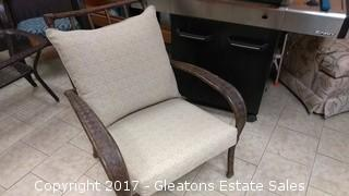 METAL OUTDOOR CHAIRS/WITH CUSHION