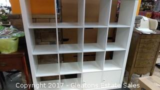SIXTEEN CUBBY ORGANIZER/WITH TWO DOORS