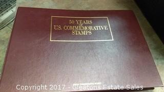 FIFTY YEARS OF US COMMEMORATE STAMP BOOK