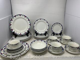 5 Veruschka by Adams China 6 Piece Place Settings Discontinued 1983-1992