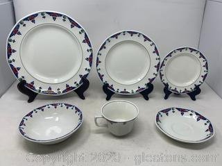 6 Piece Place Setting Veruschka by Adams China