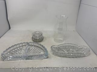 Vintage Glassware and Crystal Pieces