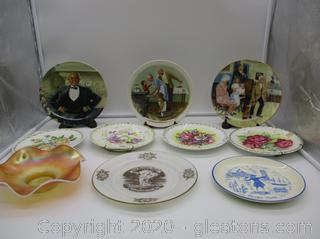 10 Piece Collector's Plates Lot