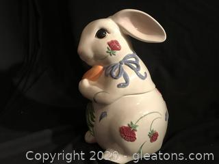 Easter Lenox rabbit cookie jar