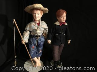 Huck Finn And Tom Sawyer Figurines