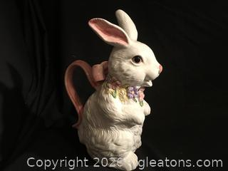 Easter spring rabbit pitcher