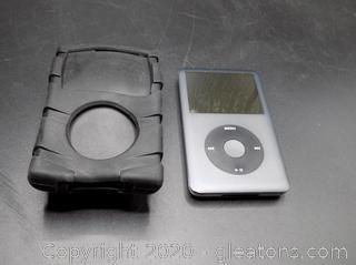 Apple iPod with Black Rubber Speck Clip Case