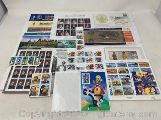 Assorted Stamps, Inauguration Envelopes, and Replica Confederate Bills