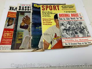 Assortment of 60's Baseball Magazines