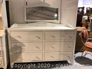 Modern Dresser and Mirror