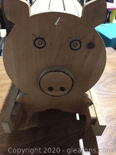 Wooden Pig Rocker