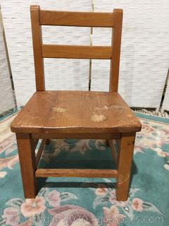 Child's Wooden Chair