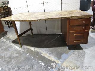 Vintage Mid-Century Modern Wooden Desk