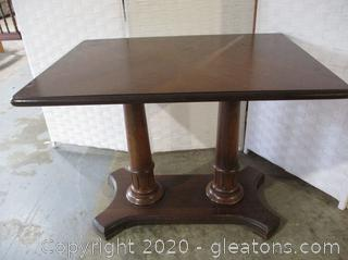 2 Pedestal Wooden Side Table