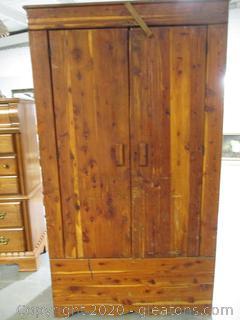 Vintage 1940's Kincaid Solid Cedar Wardrobe
