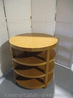 Round Contemporary Accent Table