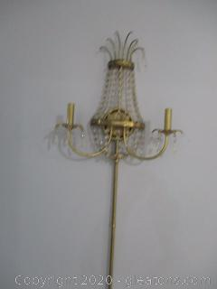 Brass and Crystal Wall Chandelier (B)