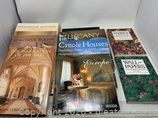 Bundle of Books on Interior Design