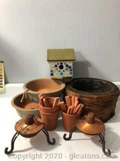 Outdoor Lot Pottery . Oil Burners