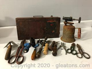 Antique Tool Lot 11pc Tools