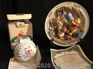 Winnie the Pooh 3 D plate and ornament