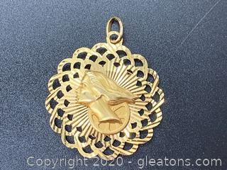 14k Two Sided Pendant