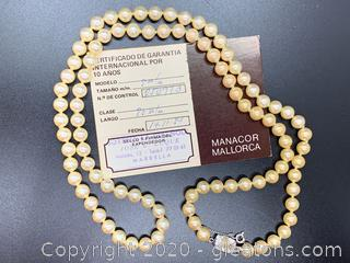 Imported Pearls From Mallorca with Certificate of Auth