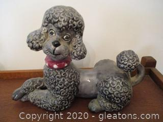 Gray Atlantic Poodle Figurine