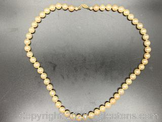 Long and Large High End Strand of Pearls