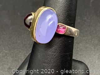 Energy Optimizing Custom Made by Shaman Tourmaline and Garnet Ring