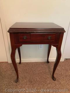 Vintage Sewing Machine Desk/Table (Sewing Machine not included)