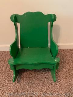 Vintage Hand Painted Children's Rocker