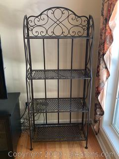 Vintage Iron 4 Shelf Bookcase