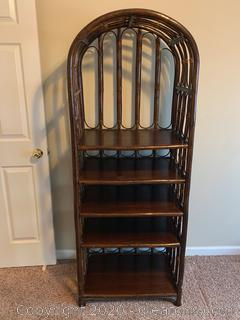 Large 5 Shelf Rattan Bookcase (A)