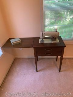 Sears Kenmore Sewing Machine In Desk