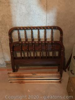 (A) Twin Size Vintage Bed Frame