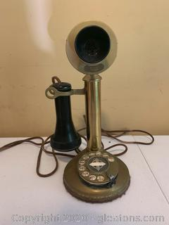 Vintage Western Electric Company Candle Stick Rotary Telephone