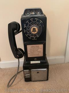 Vintage Automatic Electric Rotary Pay Telephone
