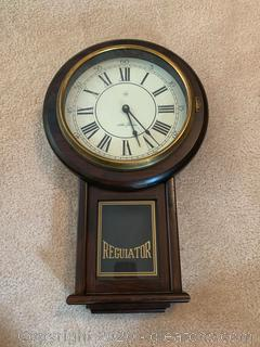 Vintage Seth Thomas Regulator Wall Clock