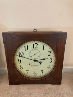 Antique Seth Thomas 30 Day Large Square Wall Clock