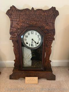 Antique Sessions 8 Day Black Shelf Clock