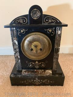 Antique Carved Marble Clock