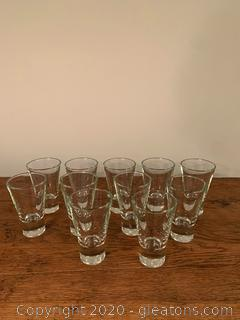 Vintage Heavy Bottom Tumbler Glasses