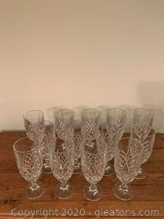 Heavy Cut Glass Water Glasses