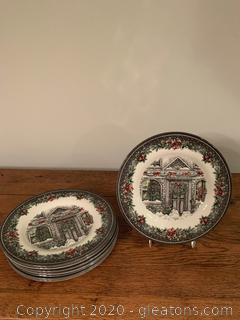 Royal Stafford Christmas Home Plates