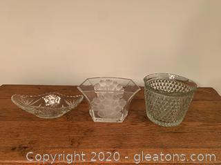 Cut Glass Dish Lot