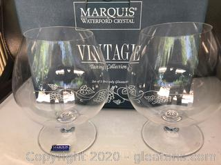 Pair of Marquis by Waterford Brandy Glasses